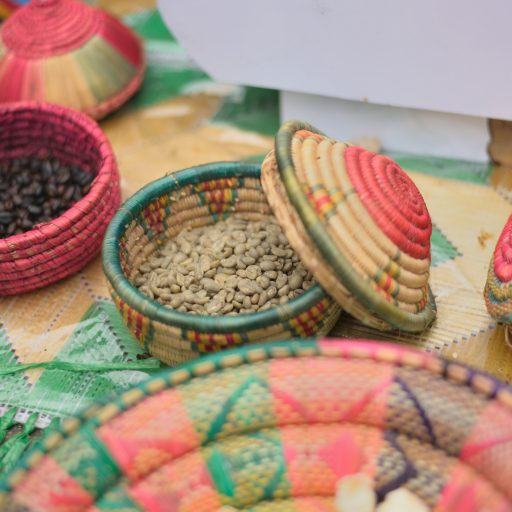 Items from an Ethiopian coffee ceremony.